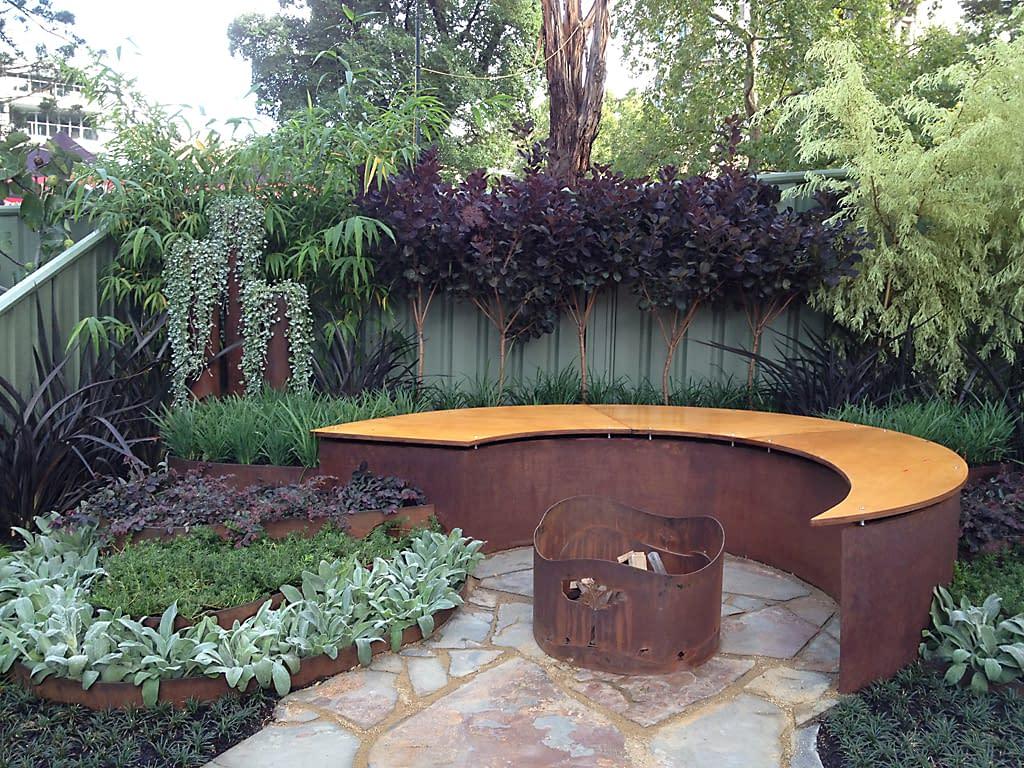 achievable_gardens_mifgs_2013_stunning_corten_garden_3 - garden edging | Metal Garden Edging | lawn edging | landscape edging | garden design